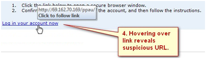 Recognize Phishing Emails Link Follow