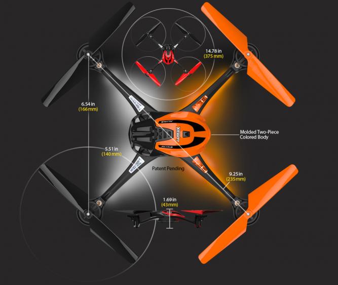 Traxxas LaTrax Alias Quadcopter RTF 2.4GHz TRA6608 spec