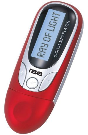 Naxa 4GB MP3 Player with FM Radio (Red)