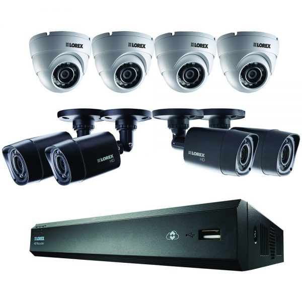LOREX16-Channel HD 1TB DVR with 4 Bullet/4 Dome HD Cameras
