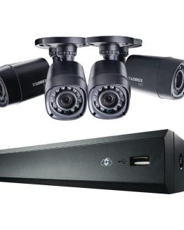 LOREX BY FLIR 4-Channel MPX 720p HD 1TB DVR with 4 Weatherproof IR Cameras