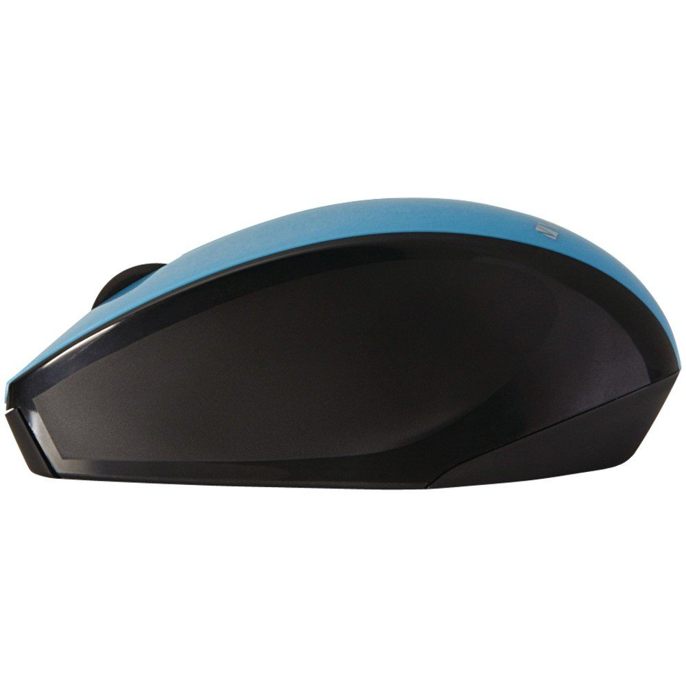 Wireless Multi-Trac Blue LED Optical Mouse (Blue) sideview