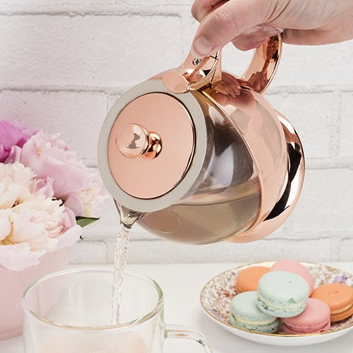 Shelby Rose Gold Wrapped Teapot & Infuser by Pinky Up