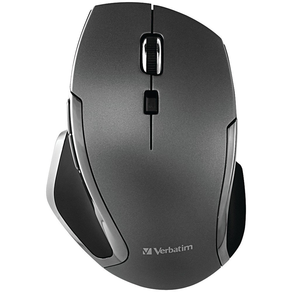 Verbatim Wireless Notebook 6-Button Deluxe Blue LED Mouse Graphite top