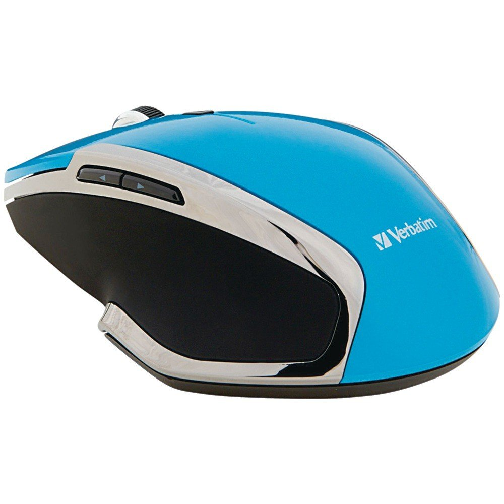 Verbatim Wireless Notebook 6-Button Deluxe Blue LED Mouse standard