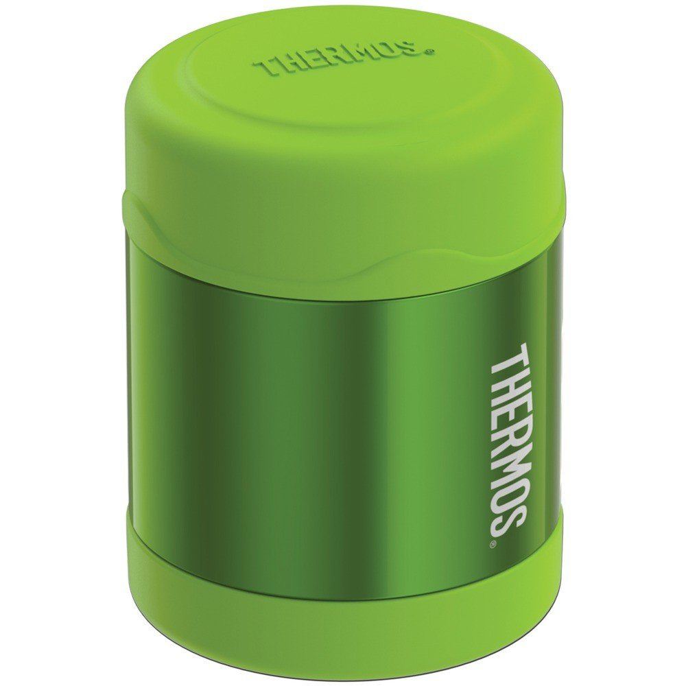 10-Ounce Stainless Steel Vacuum-Insulated FUNtainer Food Jar Lime Green