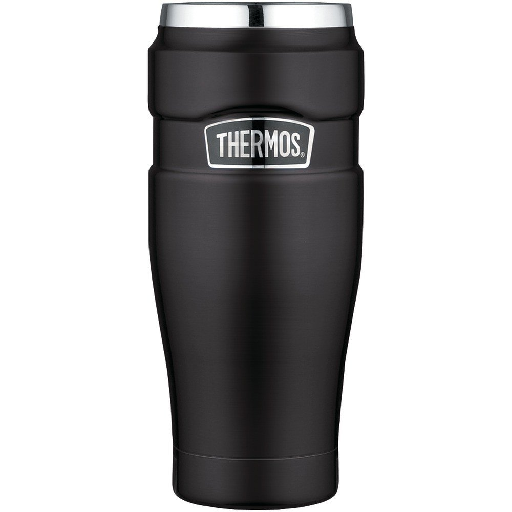 16-Ounce Stainless King Vacuum-Insulated Travel Tumbler Matte Black