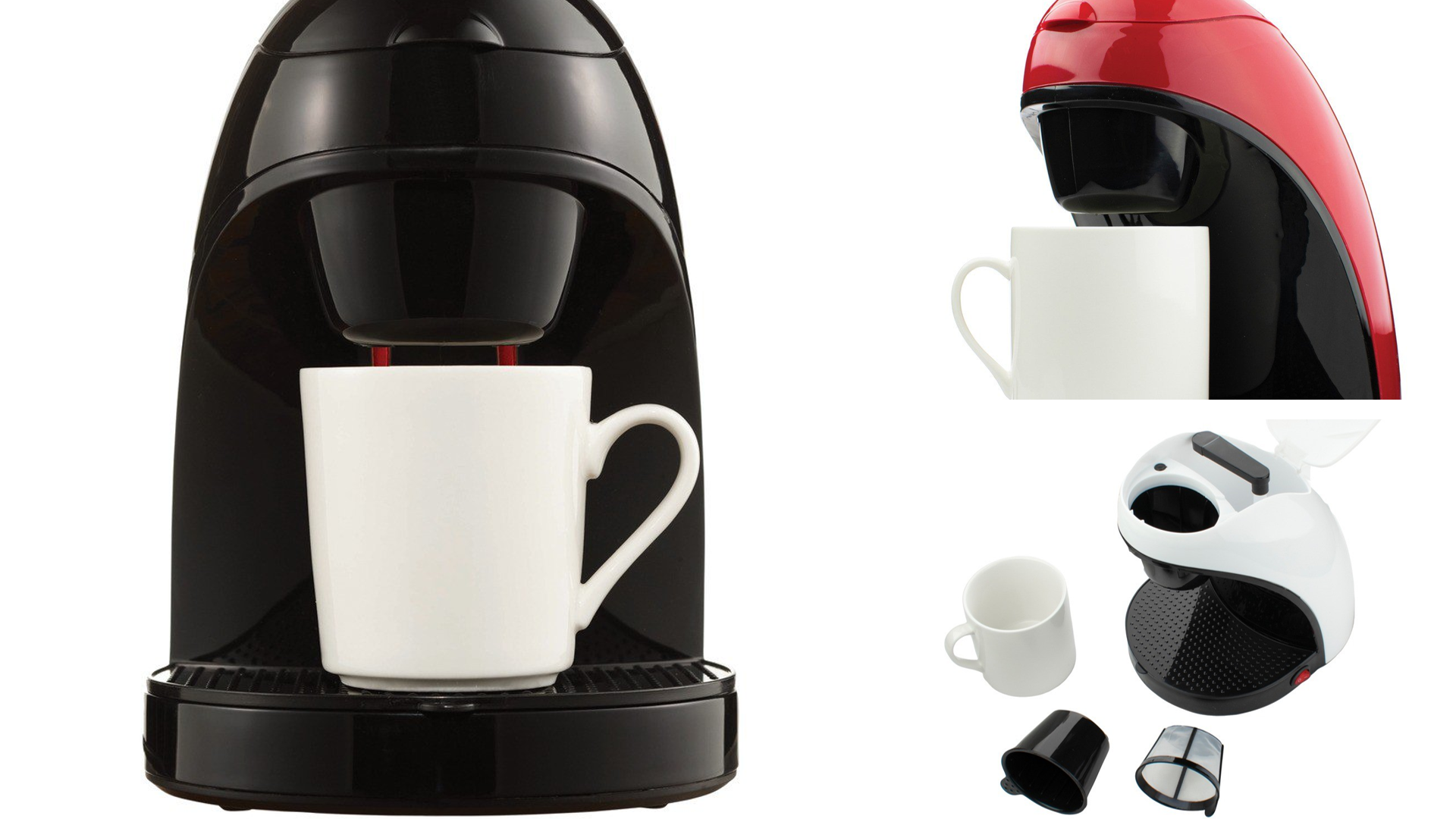 Single-Serve Coffee Maker with Mug