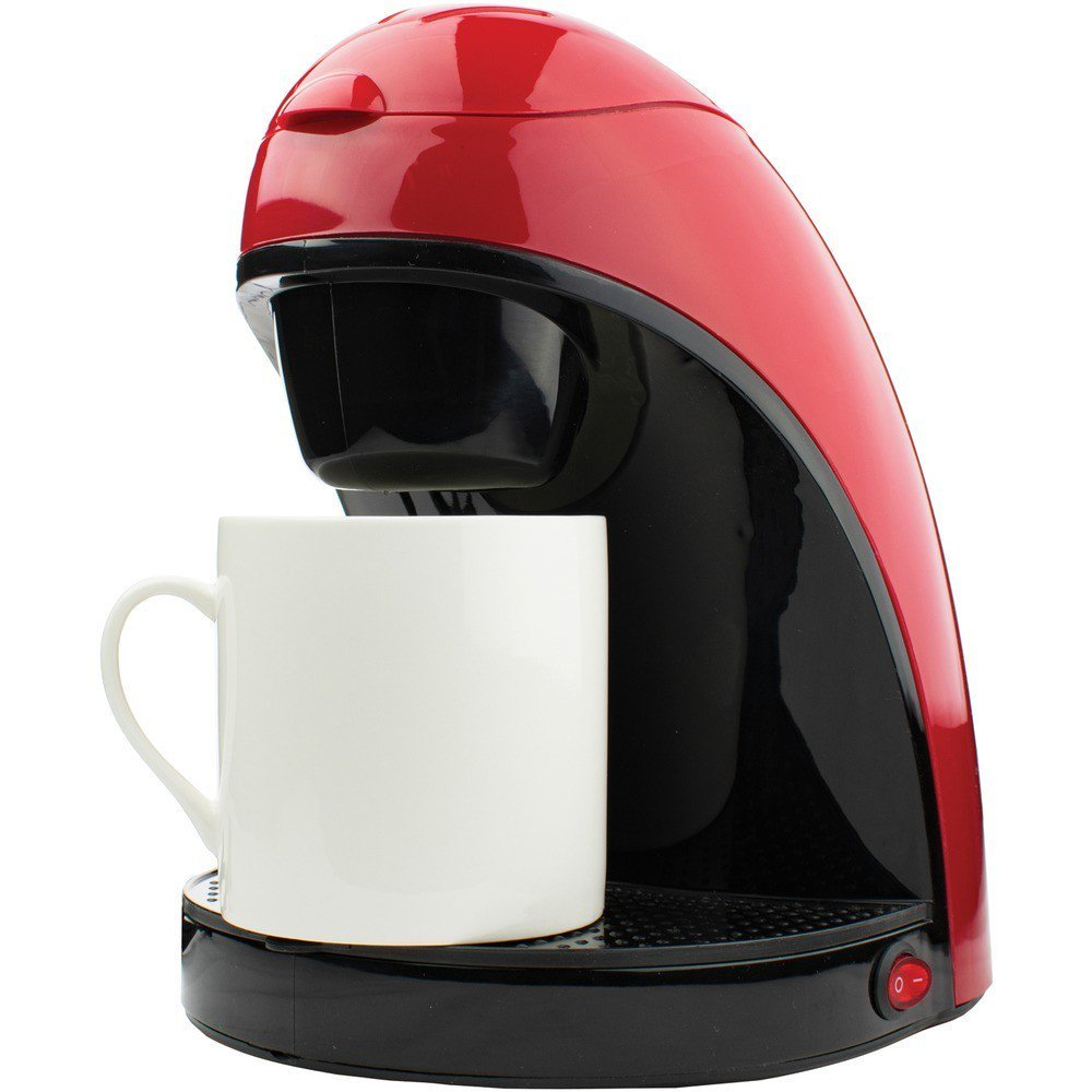 Single-Serve Coffee Maker with Mug Red