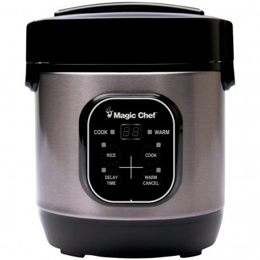 3-Cup Stainless Steel Nonstick Rice Cooker