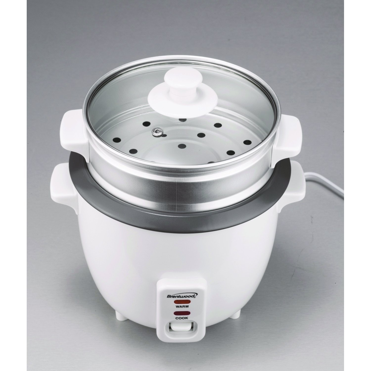 5 Cups Non-Stick Rice Cooker with Food Steamer