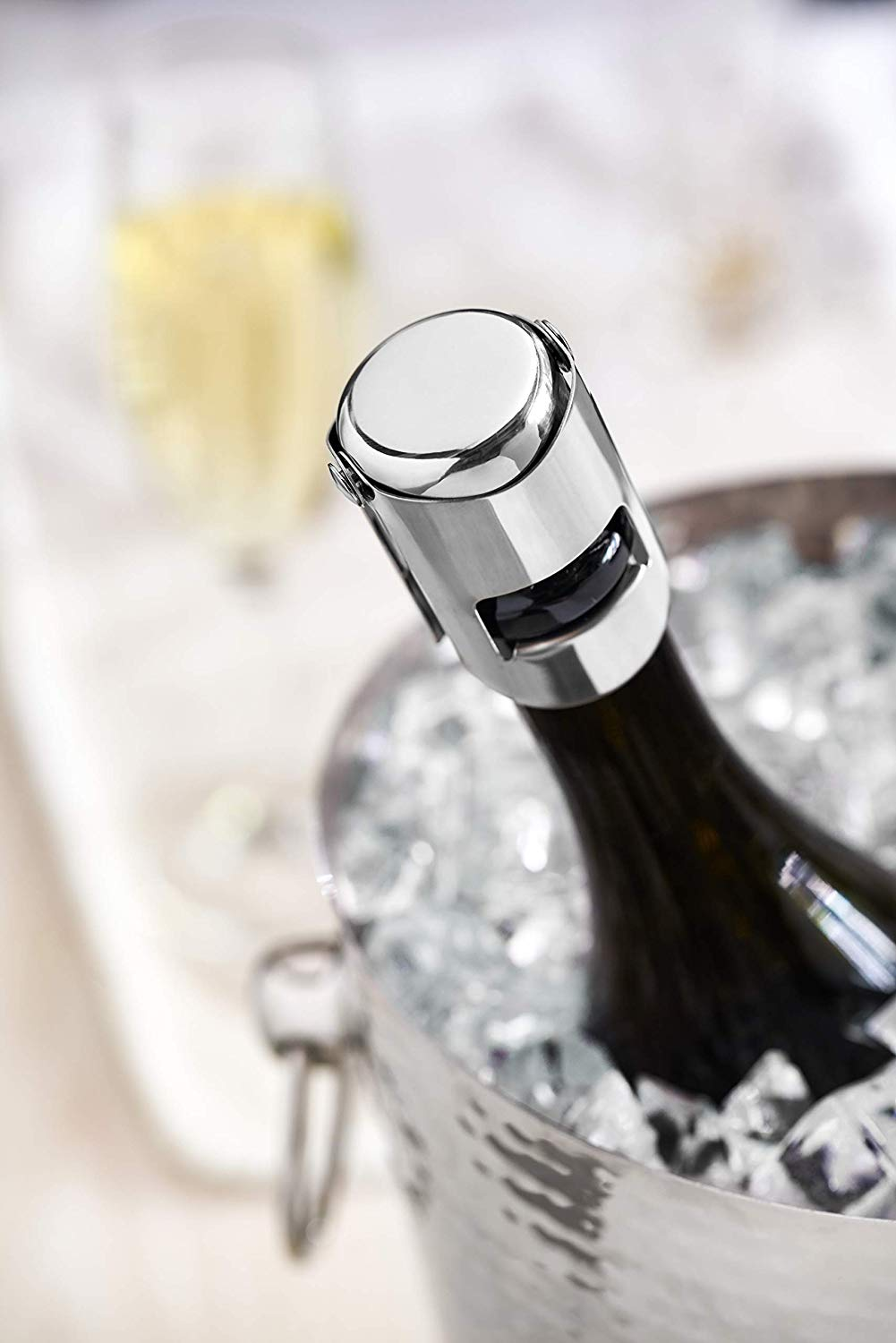 Champagne Stopper by Fizz™ Chrome