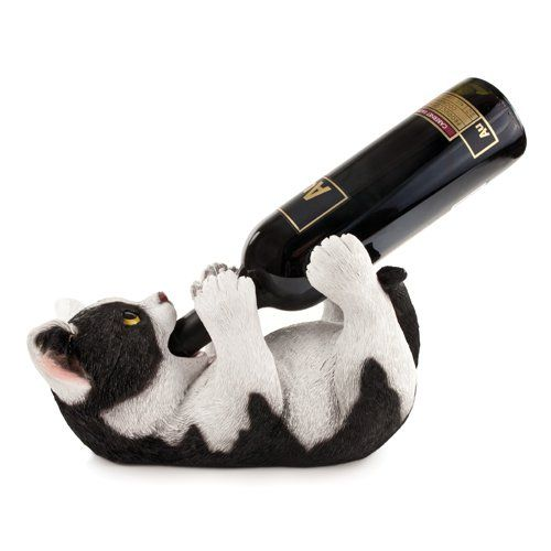 Klutzy Kitty Wine Bottle Holder
