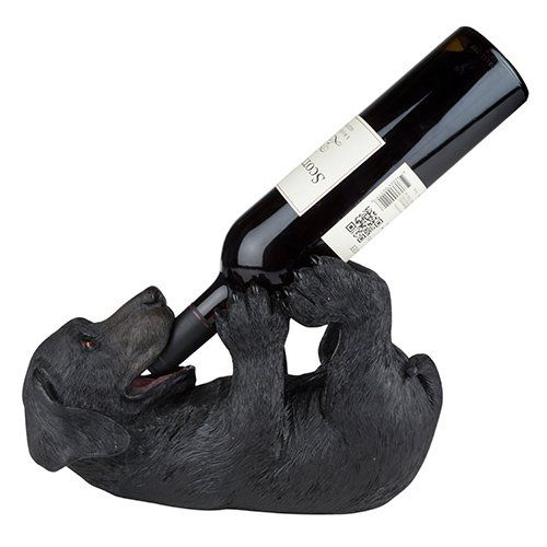 Lucky Black Lab Wine Bottle Holder