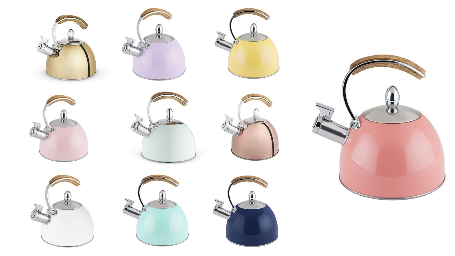 Presley™ Tea Kettle by Pinky Up® - Assorted Colors
