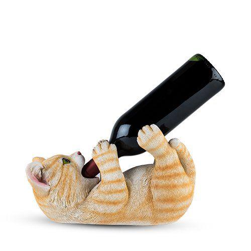 Tippler Tabby Cat Wine Bottle Holder