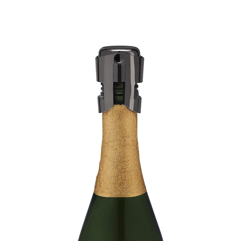Warren™ Gunmetal Black Champagne Stopper by Viski