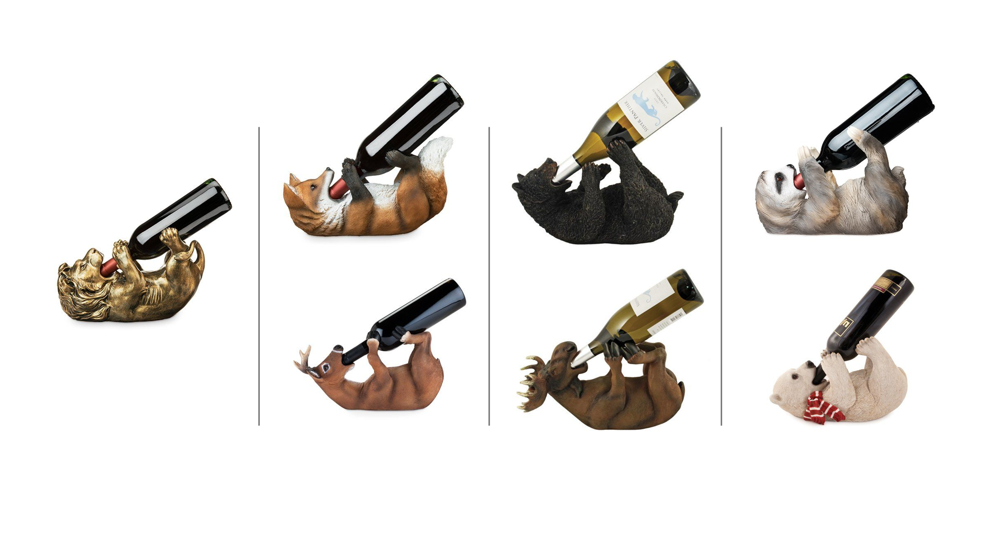 Wild Animals Theme Wine Bottle Holder