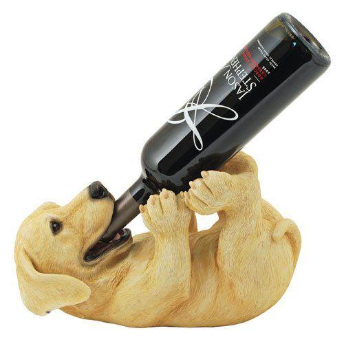 Yellow Lab Puppy Wine Bottle Holder