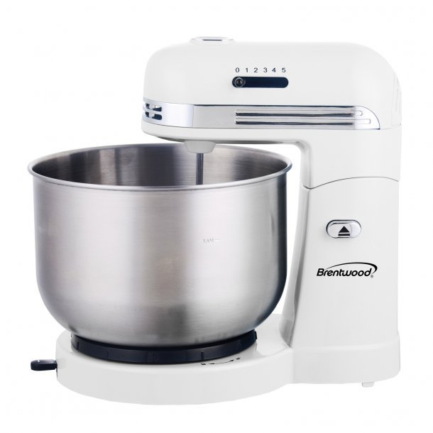 5-Speed Stand Mixer with 3-Quart Stainless Steel Mixing Bowl