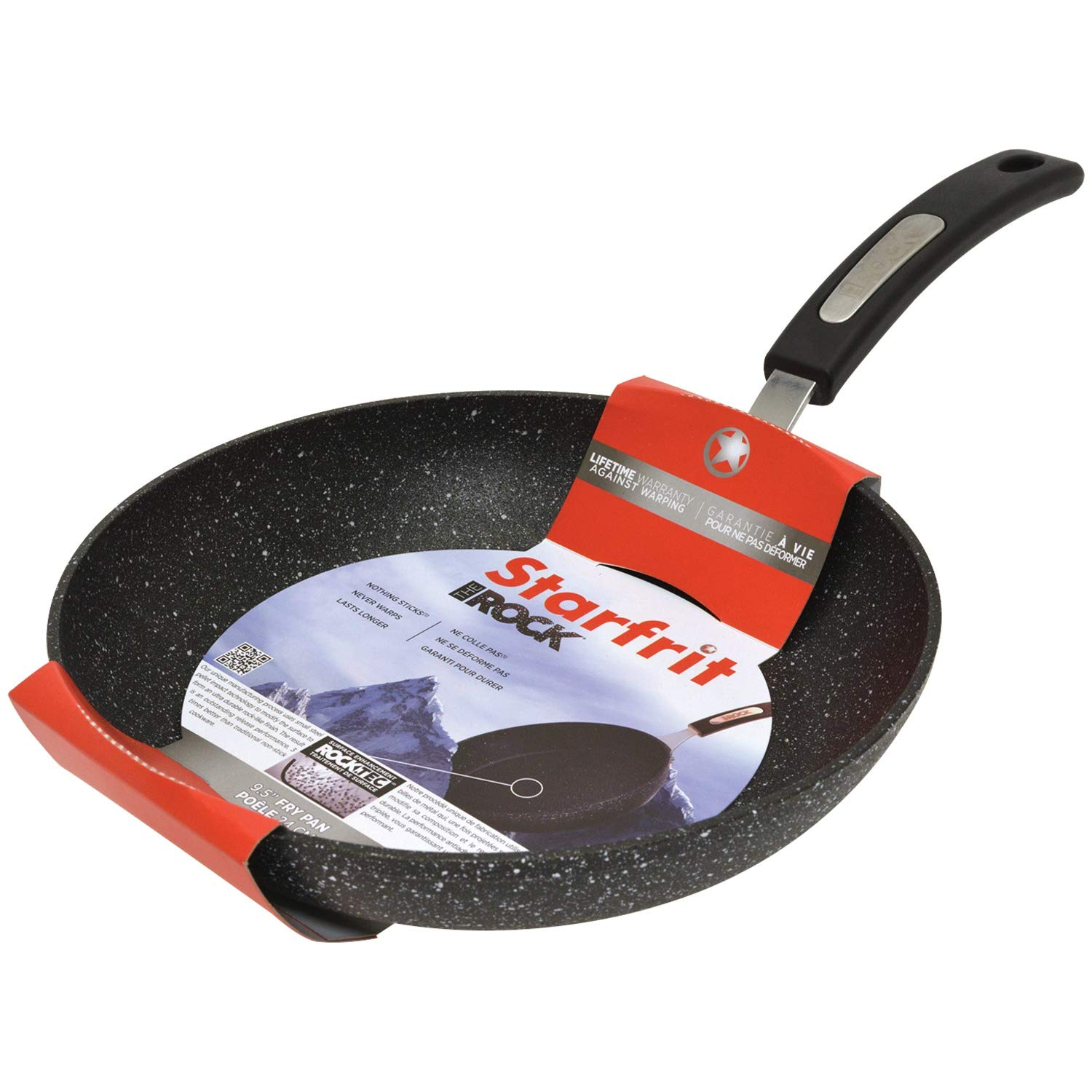 Nonstick Scratch Resistant Fry Pan with Bakelite Handle - THE ROCK by Starfrit