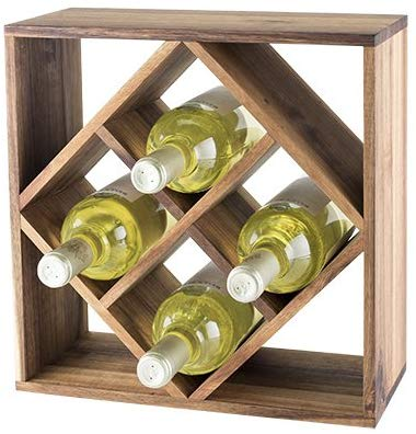 Acacia Wood Lattice Wine Rack by Twine
