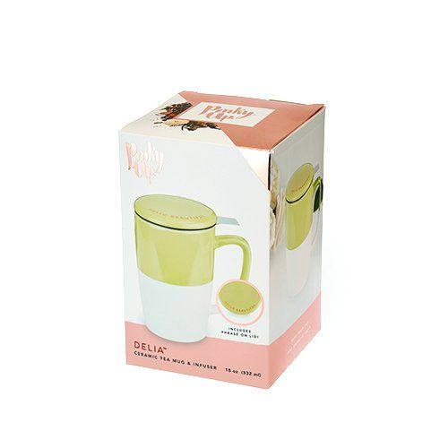 Delia™ Green Tea Mug & Infuser by Pinky Up