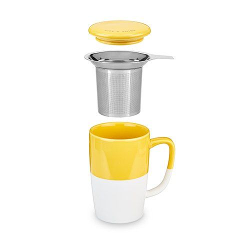 Delia™ Yellow Tea Mug & Infuser by Pinky Up