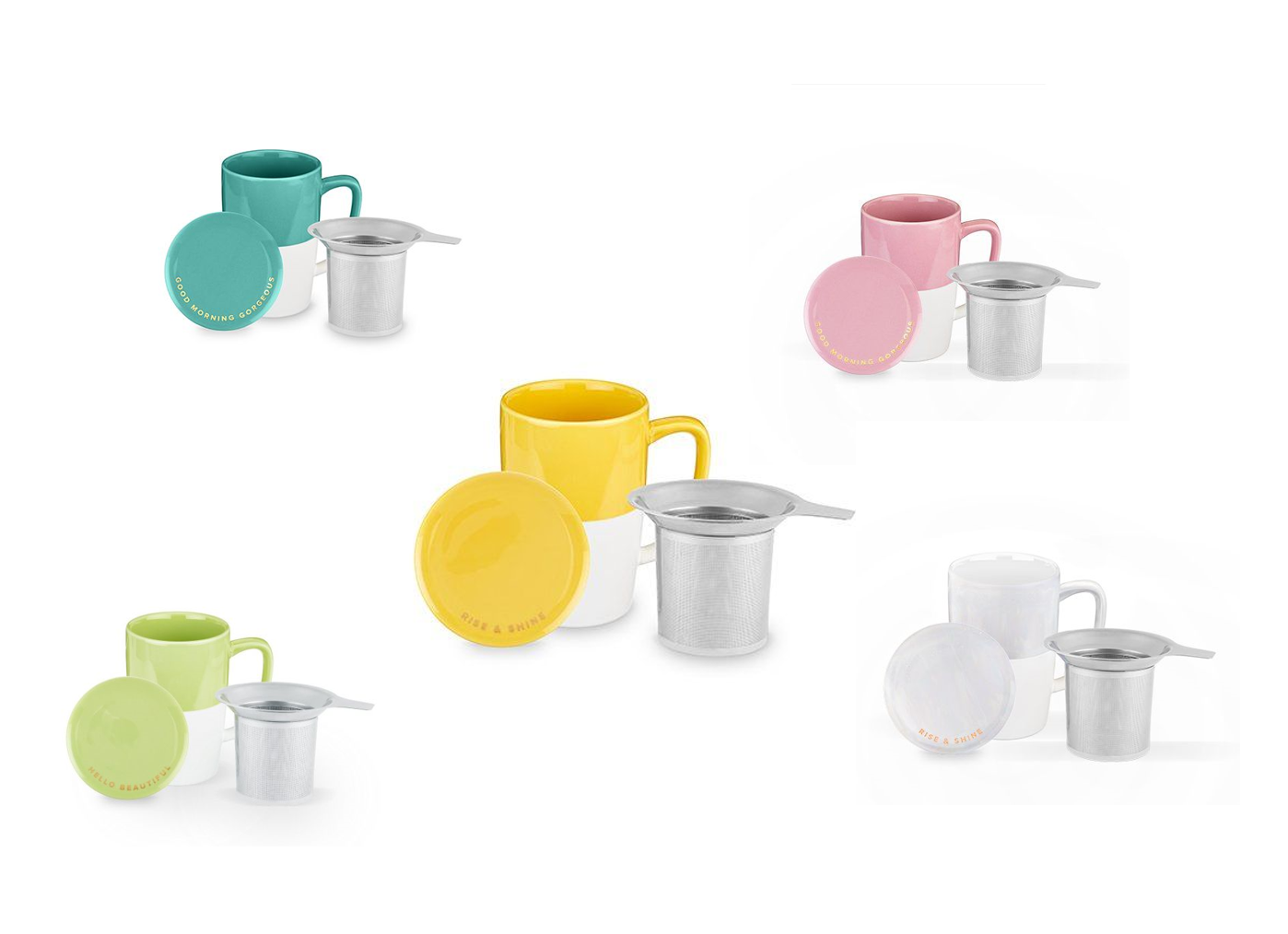 Delia Tea Mug & Infuser by Pinky Up