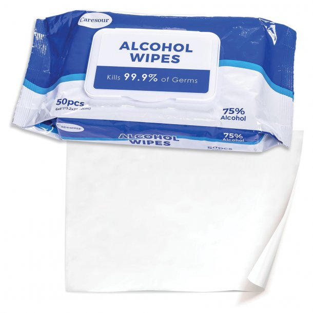 75% Alcohol Disinfecting/Hand Sanitizer Wipes (50 Count)