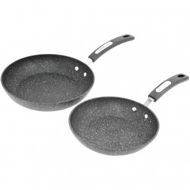 THE ROCK™ by Starfrit® Set of 2 Fry Pans with Bakelite® Handles