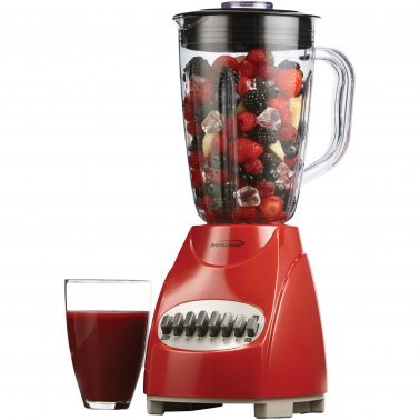 50-Ounce 12-Speed + Pulse Electric Blender with Plastic Jar (Red)