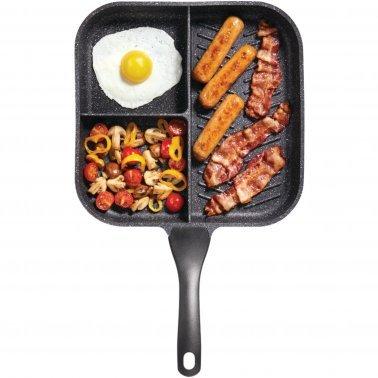 "THE ROCK™ by Starfrit® 11"" 3-in-1 Breakfast Pan with Bakelite® Handle"