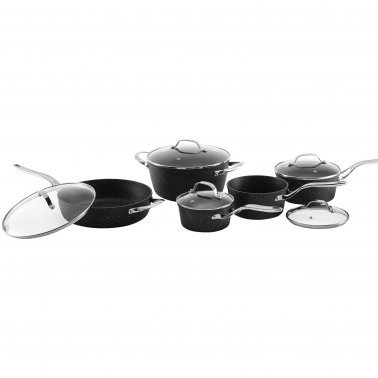 THE ROCK™ by Starfrit® 10-Piece Cookware Set with Stainless Steel Handles