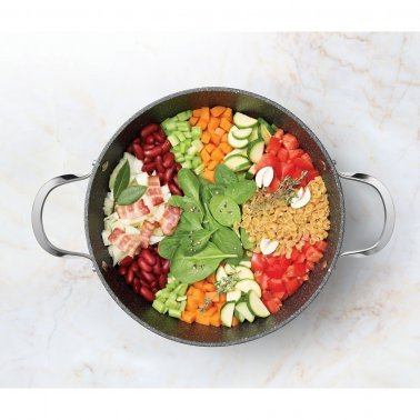 THE ROCK™ by Starfrit® One Pot 7.2-Quart Stock Pot with Lid