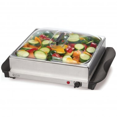 Stainless Steel Buffet Server with Warming Tray