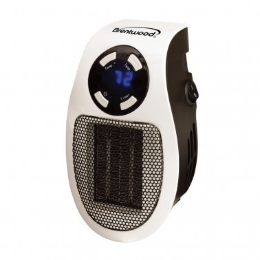 350-Watt Plug-In Wall Outlet Personal Space Heater