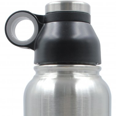 GeoJug 32-Ounce Stainless Steel Vacuum-Insulated Water Bottle (Black)