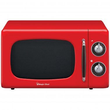 .7 Cubic-ft 700-Watt Retro Microwave (Red)