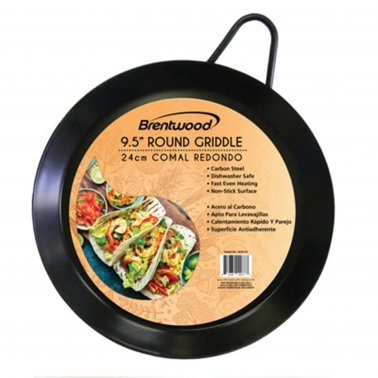 Carbon Steel Non-Stick Round Comal Griddle (9.5-Inch)